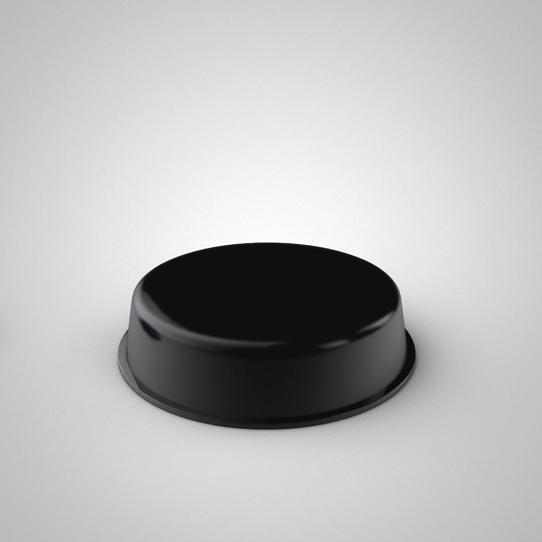 stick-on rubber pads Black