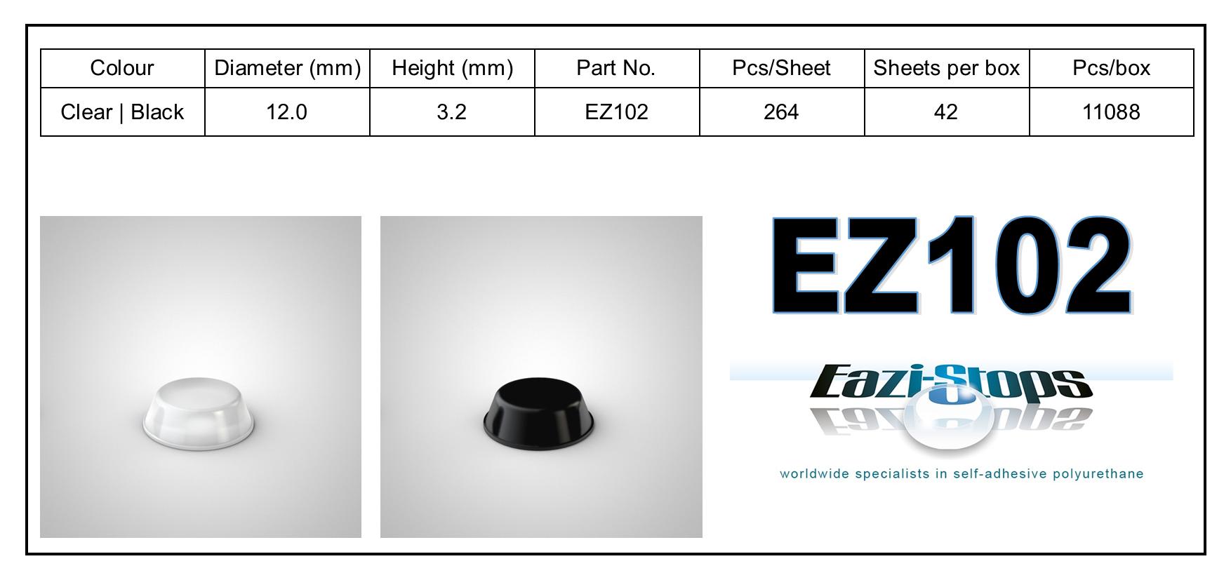 EZ102 - stick on rubber pads