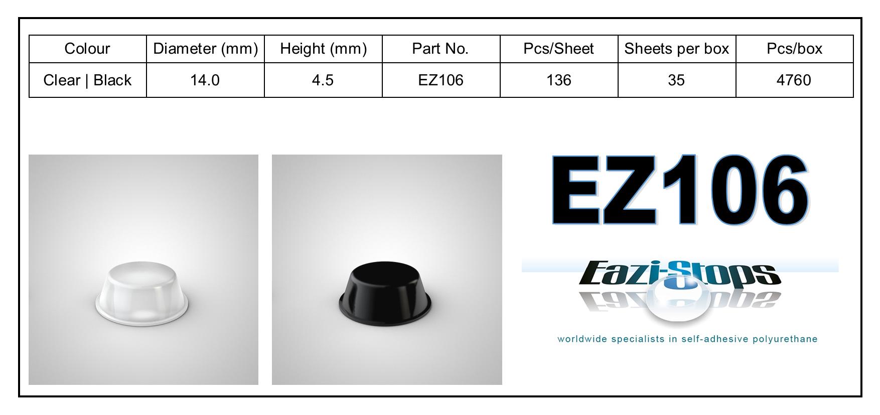 EZ106 - stick on rubber pads