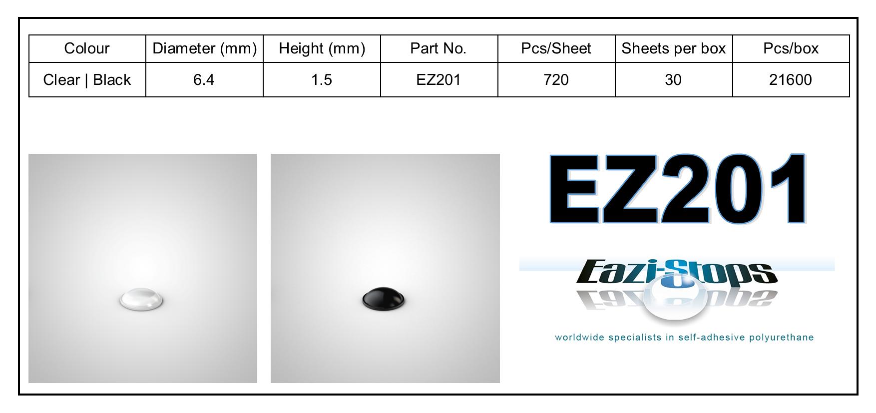 EZ201 - stick on rubber pads