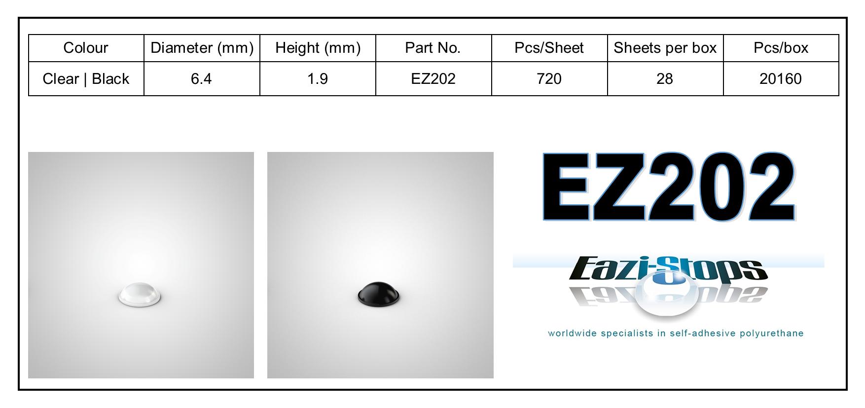 EZ202 - stick on rubber pads