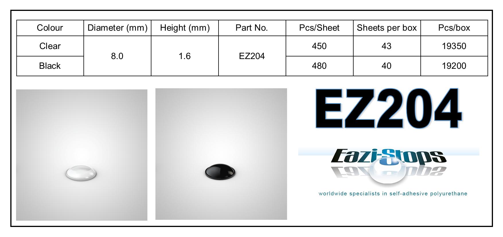 EZ204 - stick on rubber pads