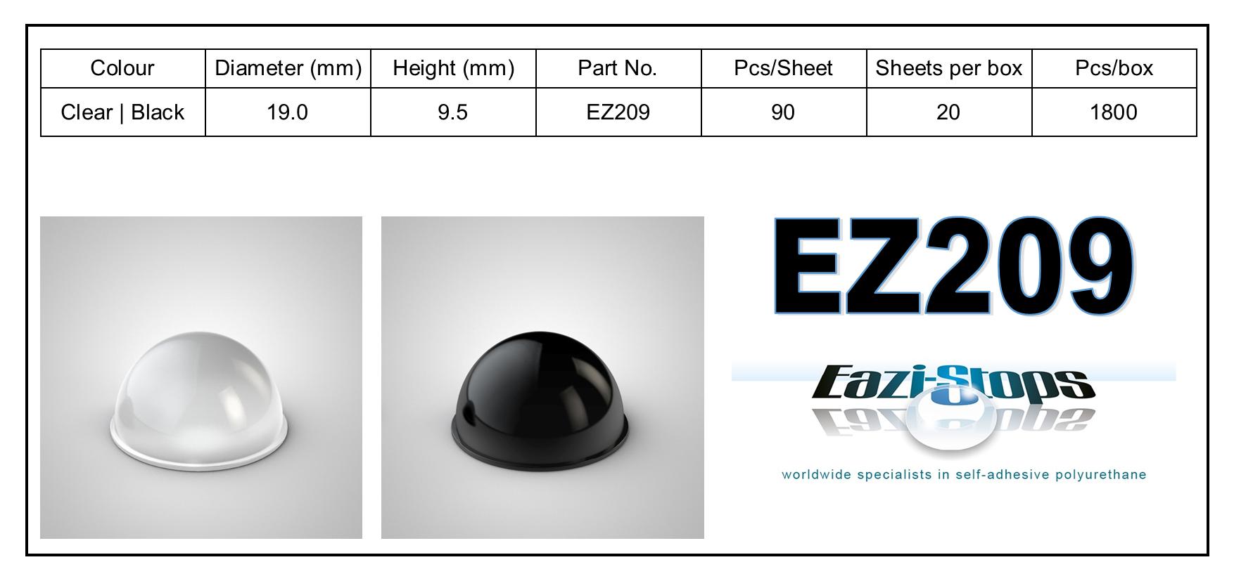 EZ209 - stick on rubber pads