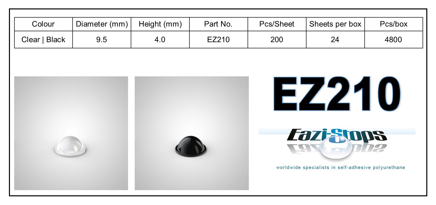EZ210 - stick on rubber pads