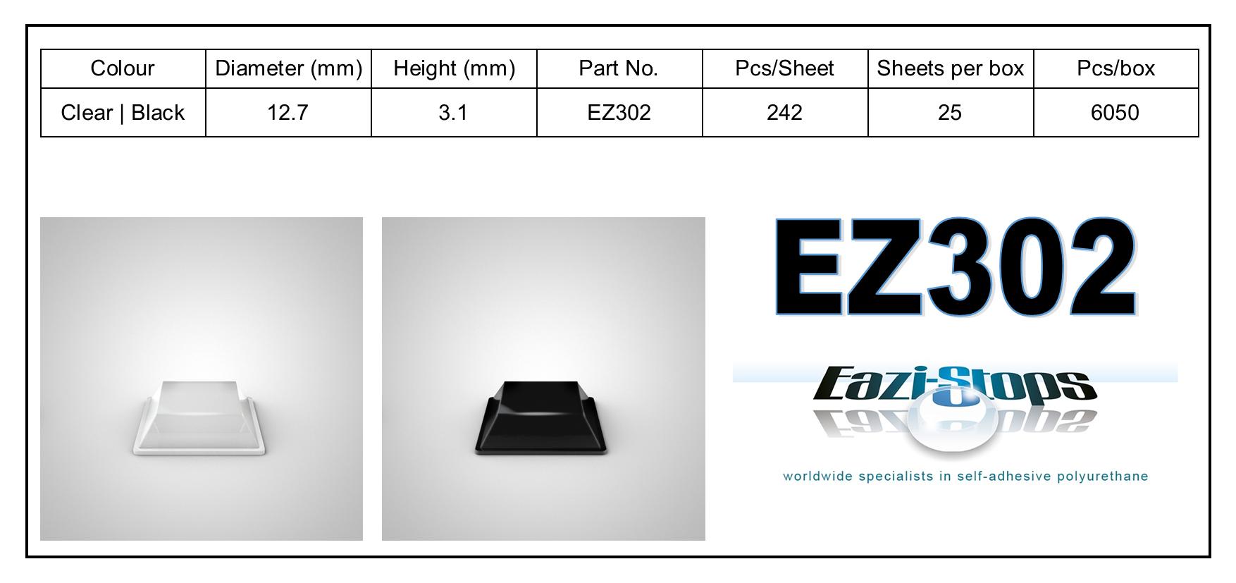 EZ302 - stick on rubber pads