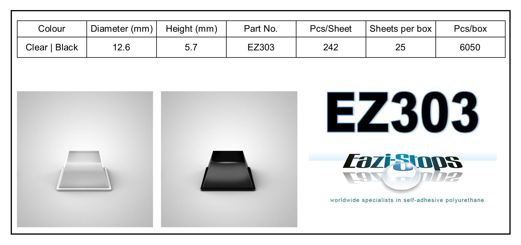 EZ303 - stick on rubber pads