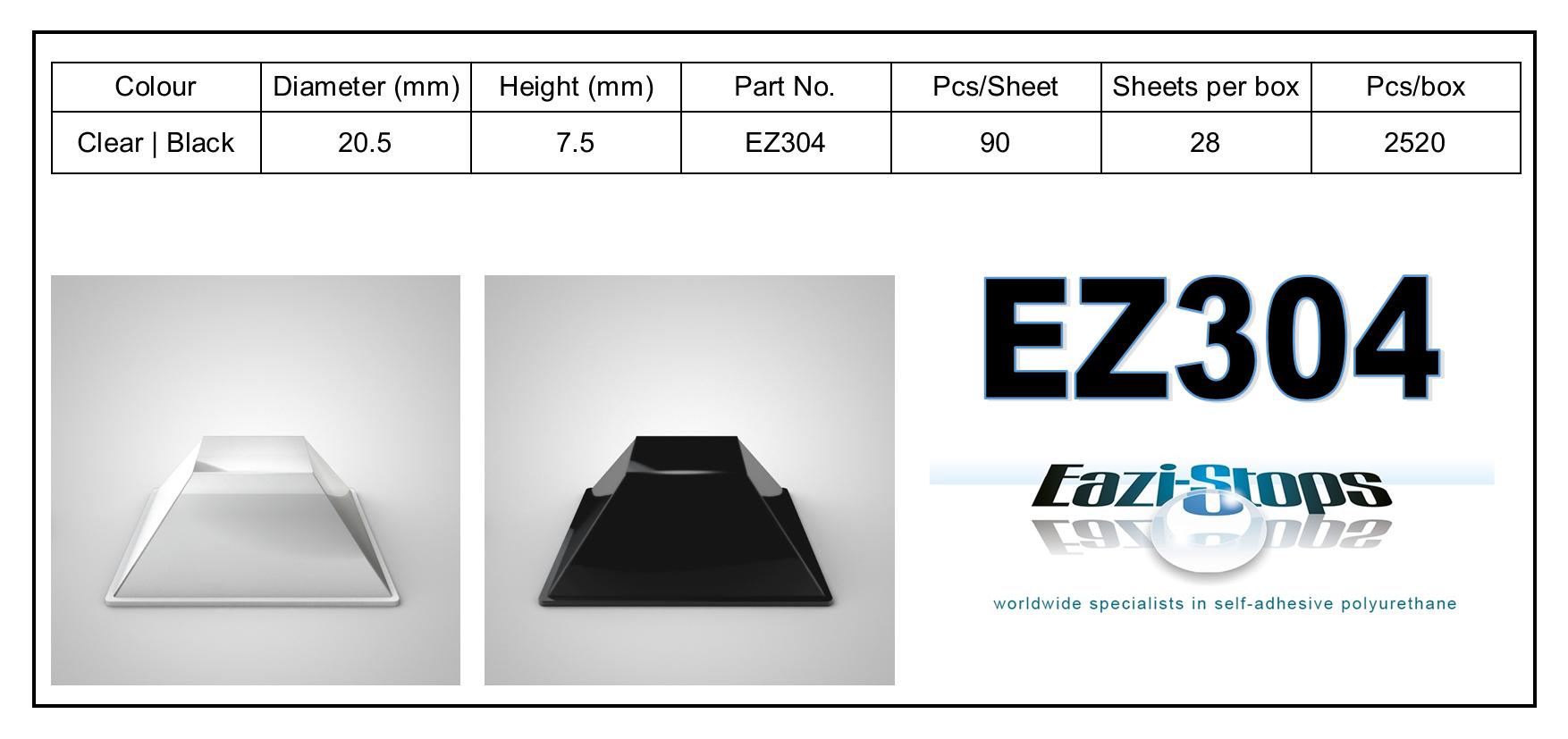 EZ304 - stick on rubber pads