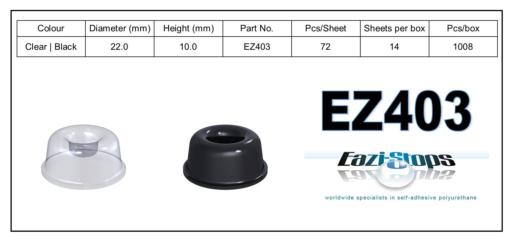 EZ403 - stick on rubber pads