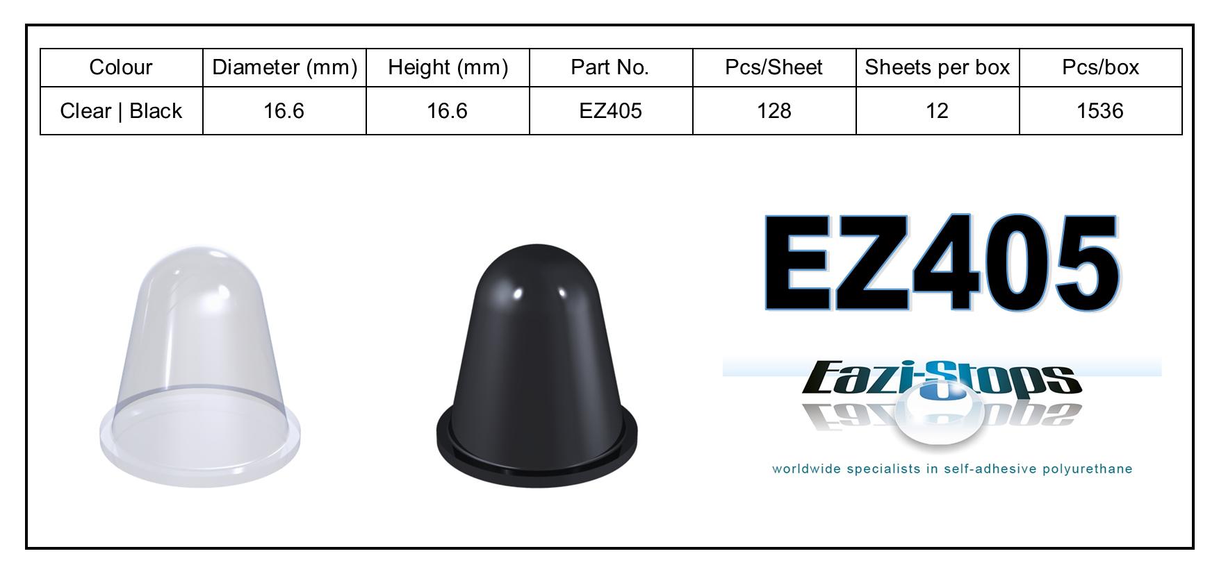 EZ405 - stick on rubber pads